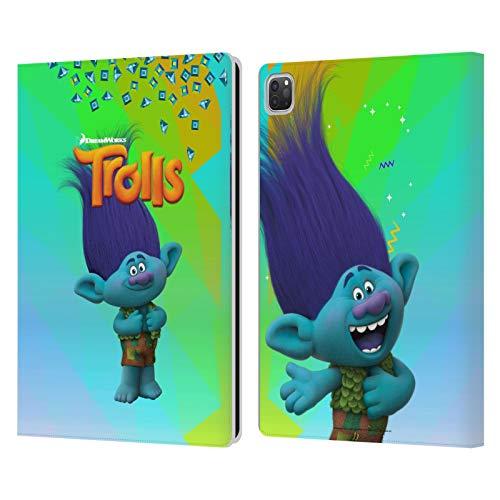 Head Case Designs Licenciado Oficialmente Trolls Rama Pack Snack Carcasa de Cuero Tipo Libro Compatible con Apple iPad Pro 12.9 (2020/2021)