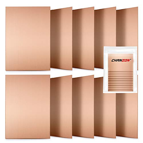 Chanzon 10 Pcs Single Sided Copper Clad Laminate PCB (7x10 cm 4x2.7 inch) Copper Plated Universal Circuit Prototype Board for Etching DIY Pcbs Kit