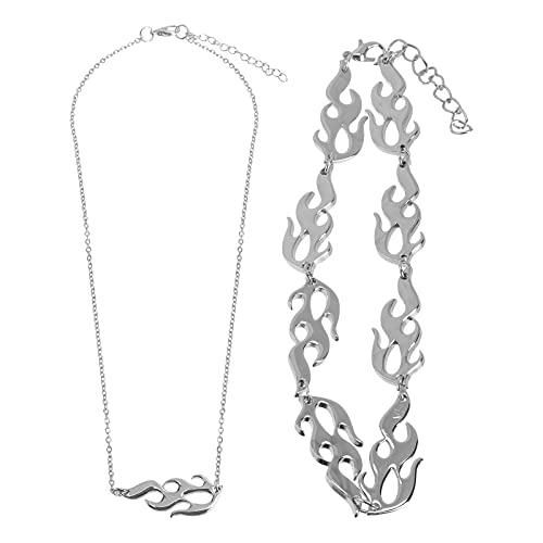SOIMISS 2pcs Punk Style Necklace Decorativo Halloween Collar Cuello Accesorio