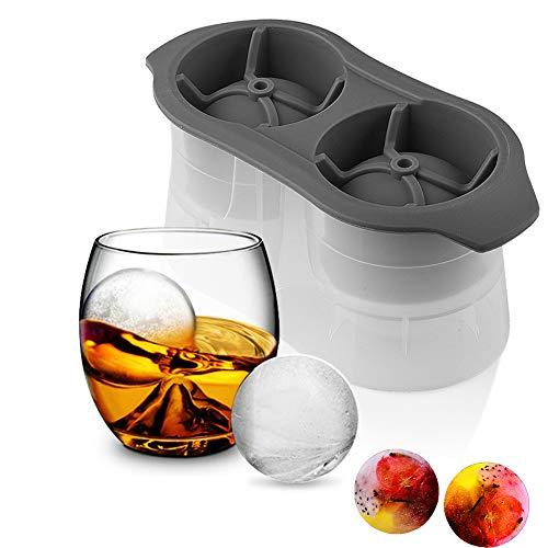 Amadon Runde Silikon-Eiswürfelschalenformen Easy Release Ice Ball Maker Wiederverwendbare Kugel-Eisformen Für Whisky Cocktail Bourbon Scotch