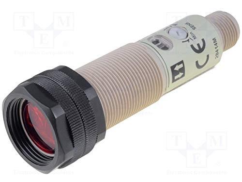 Omron Capteur photoélectrique, scanner répandue, 1m, DC, PnP, M18, M12enfichable