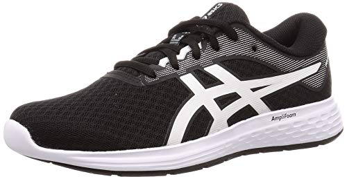 Asics Damen PATRIOT 11 Laufschuhe, Black/White, 42 EU