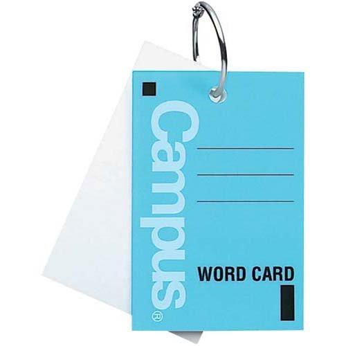 コクヨ 単語カード大 カードリングとじ40枚 青×10