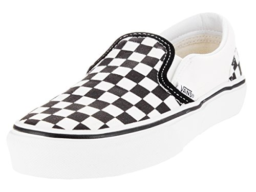 Vans Kids Classic Slip-On (Checkerboard) Black/True White VN000ZBU5GU Size 4