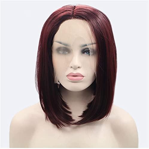 Peluca delantera de encaje de estilo europeo de peluca, peluca de color marrón oscuro, fácil de cuidar, resistencia a alta temperatura, fácil de usar