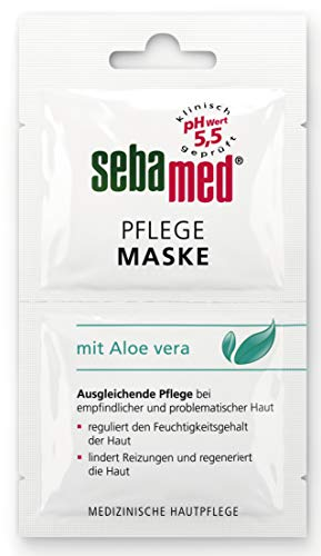 Sebamed empfindliche Haut Pflege Maske Vorteilspack 6 Stück (12 x 5 ml), reguliert den Feuchtigkeitsgehalt der Haut, lindert Reizungen und regeneriert die Haut