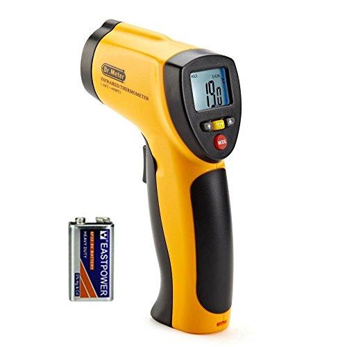 Dr.meter IR-20 Termometro Pistola Digitale ad Infrarossi per Esterni/interni con Fondina, Range da -50 a 550¡ãC; funzione trattenimento massimo/minimo, batteria inclusa, 12 mesi di garanzia