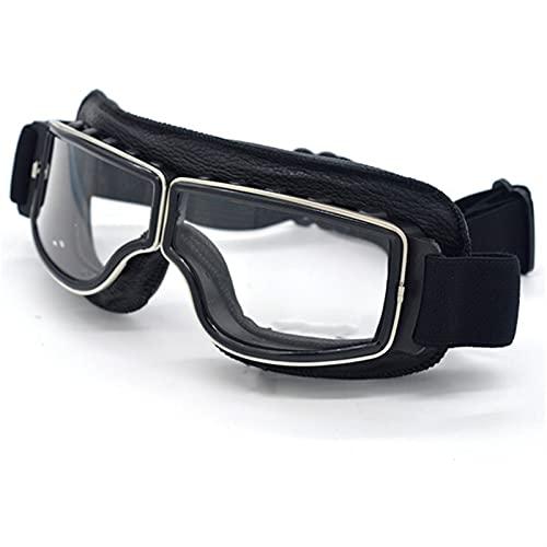 GACIENTE General Motorycle Goggles PILOTICO PILOTO DE MOTOCCLETAS GOFAS Goggles (Color : Clear Lens)