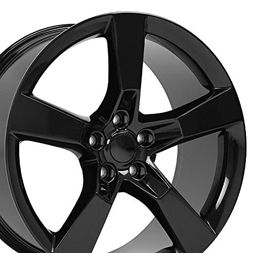 OE Wheels LLC 20 Inch Fits Chevy Camaro 10-2020 SS Style CV11 20x9 Rims Gloss Black SET