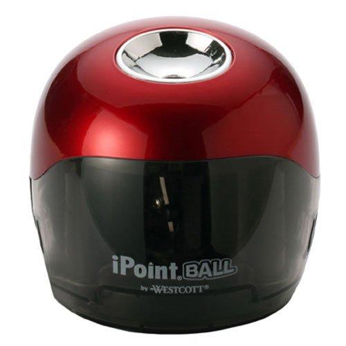 Westcott iPoint Ball Battery Pencil Sharpener, Red/Black (15570)