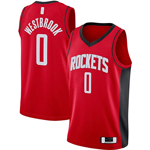 GSDAA Camiseta de baloncesto Russell Westbrook Ropa Houston Traning Jersey Rockets #0 Swingman Jersey Rojo - Icono Edition-S