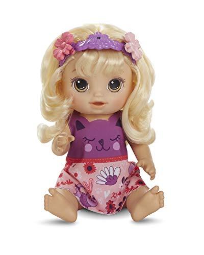 Baby Alive Haarzauber Baby mit blondem Haar, sprechende Puppe mit Haaren, die wachsen und kürzer Werden, Spielzeug für Kinder ab 3 Jahren