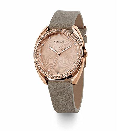 NOELANI Damen Analog Quarz Uhr mit Lederimitat Armband 2020918