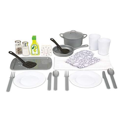 Melissa & Doug Set de Accesorios de Cocina, Juego de Imitación, Construcción Resistente, Complemento Para Cocinas de Juguete (22 Piezas)