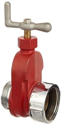 "Dixon HGV250 Brass Single Hydrant Gate Valve, 2-1/2"" NST female x NPSH male from Dixon Valve & Coupling"