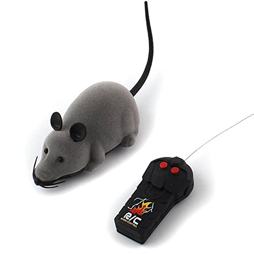 Patgoal Remote Control Toy for Cats Funny Chasing Electric Kitten Toy Simulation Animal Toys (Grey)