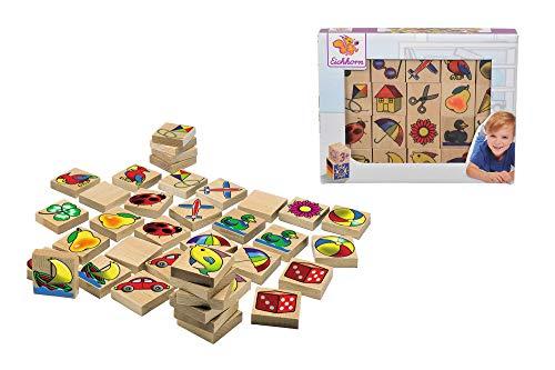 Eichhorn 100072402 – Bilder-Memo Spiel, 40 Steine mit 20 Motiven, FSC 100% Zertifiziertes Buchenholz, Made in Germany