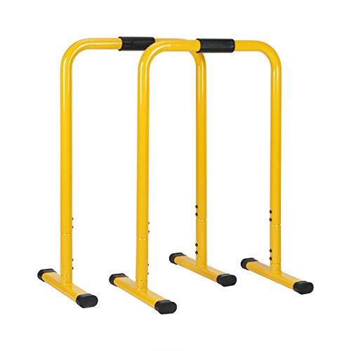 hj JH Fitness Parallele Calisthenics Barre Push Up Regolabile in Altezza - Yellow
