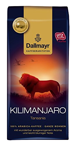 Dallmayr Kaffee Kaffeerarität Kilimanjaro Kaffeebohnen, 4er Pack (4x 250 g), ganze Bohne