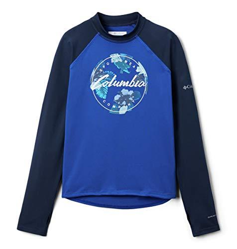 Columbia Kinder & Baby Sonnenbrille, Bedruckt, langärmelig, Azul/Coll Navy/Azul Tropical Graphic, 3T