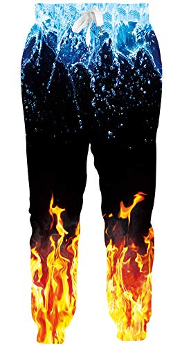 AEOPES Unisex Joggers Cool 3D Graphic Casual Sport Trousers Sweatpants with Drawstring Pockets S-XXL Galaxy Fire 3 M