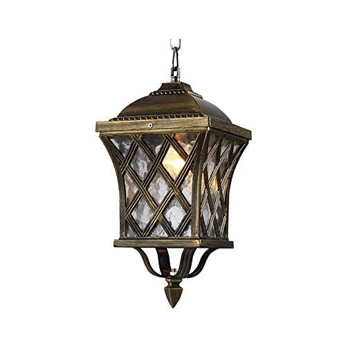 JIAXIAOYAN Lámpara de techo para exteriores o exteriores, lámpara de balcón de jardín europeo redonda bosque, lámpara decorativa de aluminio resistente al desgaste para cocina moderna Din