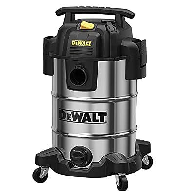 DEWALT DXV08S 8Gallon Wet/Dry Vacuum,120V/60Hz,4 Peak HP Shop Vac,Stainless Steel Tank,Silver