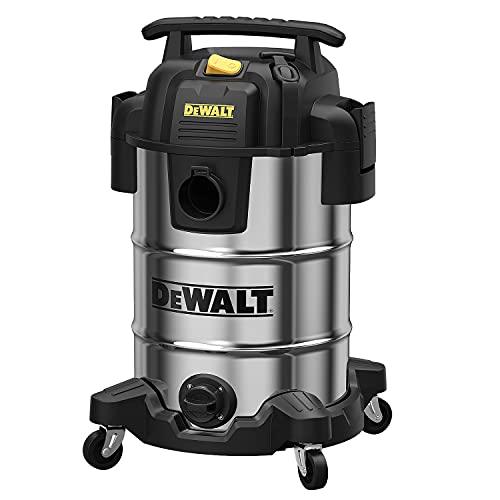 DEWALT DXV08S - Aspiradora húmeda/Seca de 30 litros, 120 V/60 Hz, 4 HP máximo, Tanque de Acero...