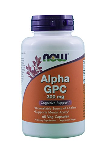 Now Foods Alpha GPC 300 mg - 60 Vcaps 3 Pack