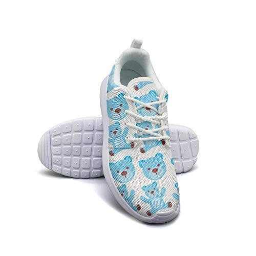 Cartoon blue bear boy baby shower white Sneaker Shoes for Women Slip Highly Breathable Best Running Shoes