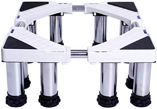 Dongyd - Base multifuncional ajustable con 12 pies fuertes, tamaño ajustable, universal, para secadora, lavadora y refrigerador (tamaño de 14 a 17 cm)
