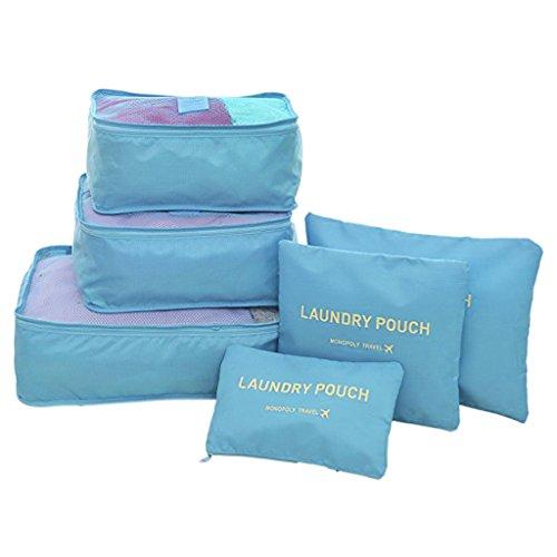 FakeFace Brand - Organizador para maletas , azul celeste (azul) - BC Travel Packing Bubes 285