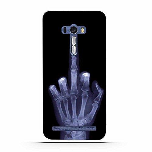 FUBAODA für Asus ZenFone Selfie ZD551KL Hülle, Künstlerische Knochen-Serie TPU Case Schutzhülle Silikon Case für Asus ZenFone Selfie ZD551KL