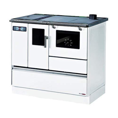 Cuisinière Granulés avec Four Chauffage seul Sannover 8 kW Blanc