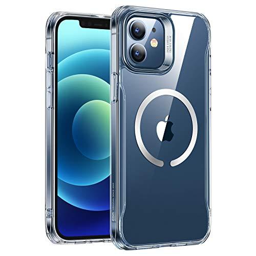 ESR Sidekick Hybrid Hülle Kompatibel mit iPhone 12/12 Pro 2020 mit HaloLock Magnetischem Kabellosem Laden Klar