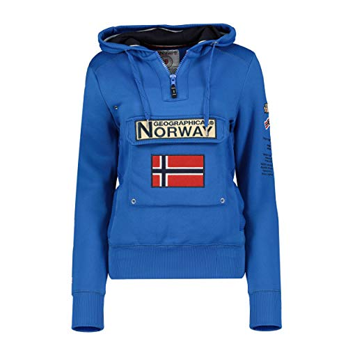 Geographical Norway GYMCLASS Lady - Sudadera para mujer, con capucha y bolsillos canguro, manga larga, informal y cálida, deportiva