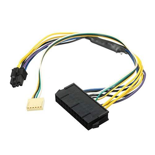 lujiaoshout ATX PSU Cable de alimentación 24P a 6P para HP Z220 Z230 SFF Mainboard Server Estación de Trabajo Negro