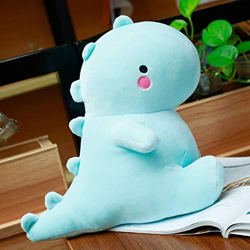 Decanyue 30/40/50 CM recién Llegado Lindo Dinosaurio Juguetes de Peluche Kawaii Relleno Suave Animal muñeca para niños bebé niños Juguete de Dibujos Animados Regalo clásico 40 cm Azul
