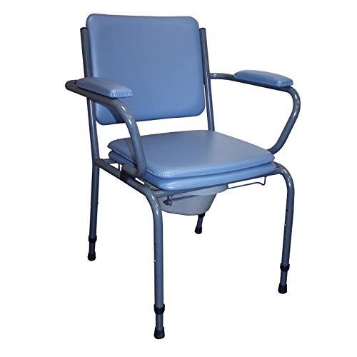 [1579] - Sedia in tessuto regolabile GR 15 (colore: tubi grigio – rivestimento blu)