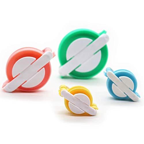Tianhaik Kit de Fabricante de Pompones 4 Tamaños Manual de Tejido de Bolas de Pelusa Diy Tejer Accesorios de Herramientas de Artesanía para Niños Adultos