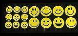 MS Car Sticker NEU! Stark Reflektierende Smileys Emojis Aufkleberset sehr stark haftend (Aufkleberset 1)
