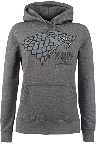 Juego de Tronos House Stark - Winter Is Coming Jersey con Capucha Muje