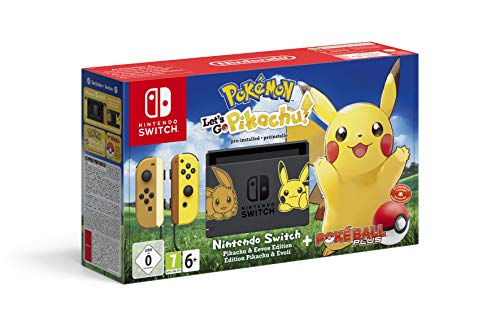 Nintendo Switch Pikachu & Evoli Edition + Pokémon: Let's Go, Pikachu! + Poké Ball Plus