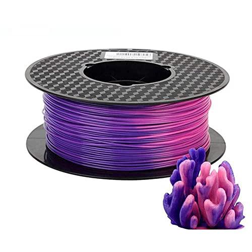 PLA-Farbwechselfilament 1,75mm 3D-Druckerfilament 1kg ändert sich mit der Temperatur lila bis rosa