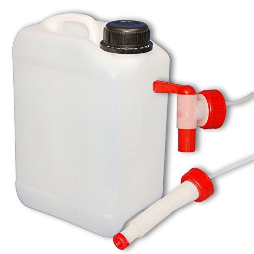 Wilai 3 Liter Kanister mit Hahn + Ausgießer flexibel (DIN 45)