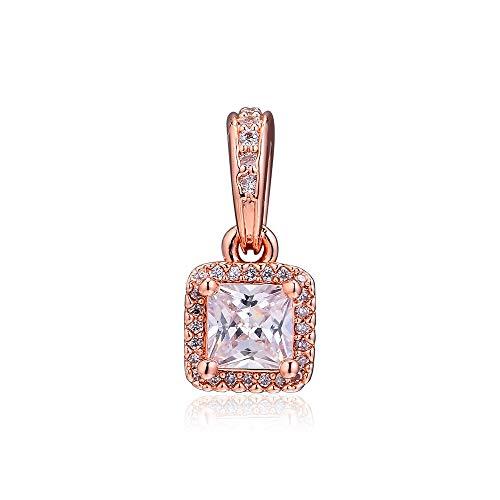 Pandora 925 Sterling Silver DIY Jewelry CharmElegante y atemporal baratija de oro rosa para hacer joyas, pulseras, joyas