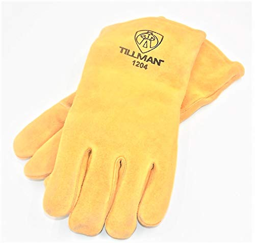 Tillman 1204 Double Reinforced Leather Palm Welding Gloves, MWS Logo, Large