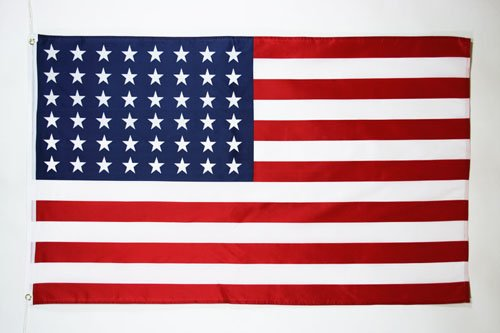 AZ FLAG Flagge USA 48 Sterne 90x60cm - VEREINIGTEN Staaten VON Amerika Fahne 60 x 90 cm - flaggen Top Qualität