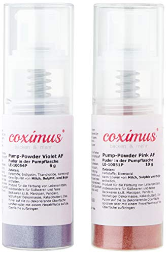 COXIMUS Pump-Powder 2er Set3 Pink und violett, 16g