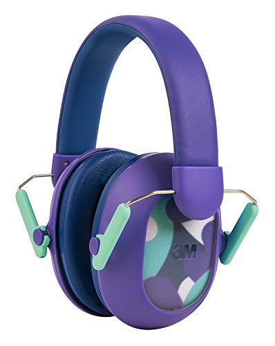 ear protectors for kids 3M Kids Hearing Protection PLUS, Hearing Protection for Children with Adjustable Headband, Purple, 23dB Noise Reduction Rating, Studying, Quiet, Concerts, Events, Fireworks, For Indoor and Outdoor Use